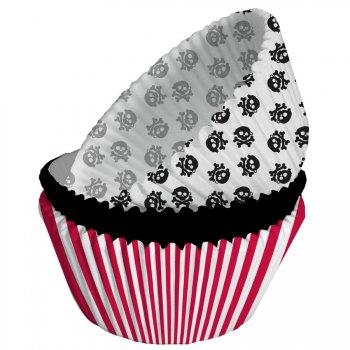 75 Caissettes à Cupcakes Pirate Rebel