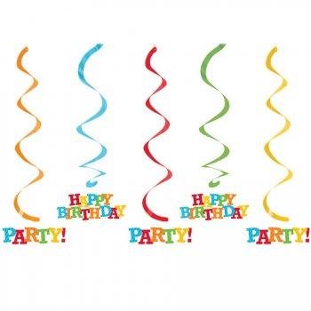 5 Décorations à Suspendre Fun Party