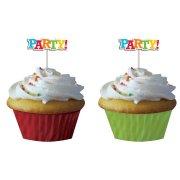 Kit 12 Caissettes et D�co � Cupcakes Fun Party
