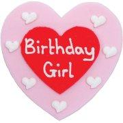 Grand Coeur en Sucre Birthday Girl
