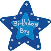Grande �toile en Sucre Birthday Boy
