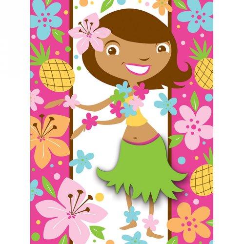 8 Invitations Princesse Aloha