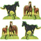 4 Centres de table Cheval Nature