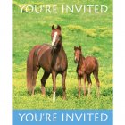 8 Invitations Cheval Nature