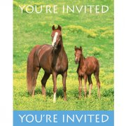 8 Invitations Cheval Nature