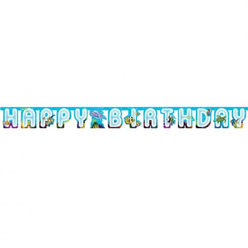 Guirlande lettres Ocean Party Happy Birthday