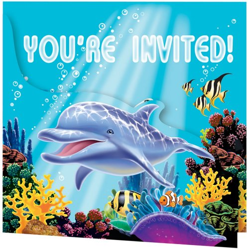 8 Invitations Ocean Party