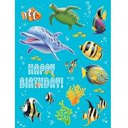 4 Planches de Stickers Ocean Party