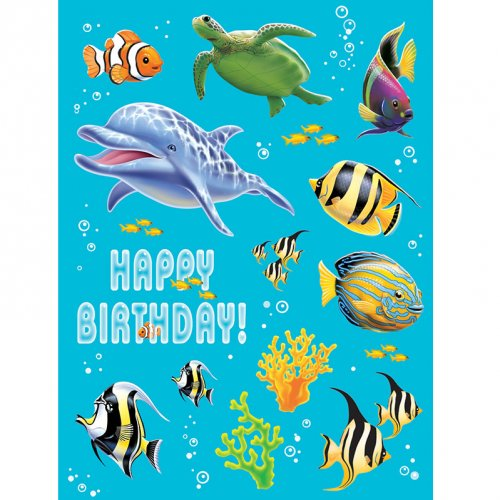 4 Planches de Stickers Ocean Party