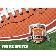 8 Invitations Football américain