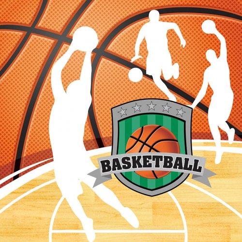 16 Serviettes Basketball