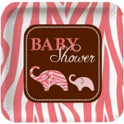 8 Assiettes Baby Safari Pink
