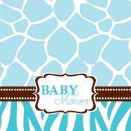 16 Serviettes Baby Safari Blue