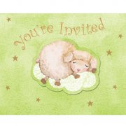 8 Invitations Baby Douceur