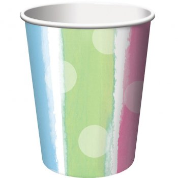 8 Gobelets Baby Shower pastels