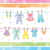 Contient : 1 x Nappe Baby Shower Pastels