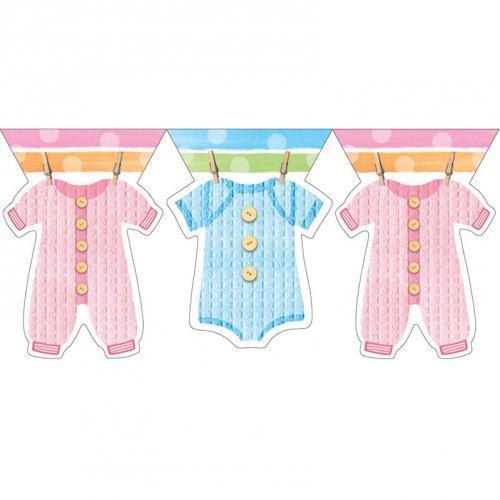 Guirlande Fanions Baby Shower Pastels