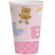 8 Gobelets Baby Teddy Rose