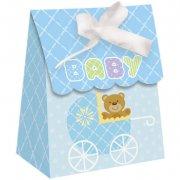 12 Boîtes cadeaux Baby Teddy Bleu