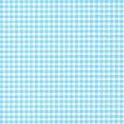 20 Serviettes à carreaux Blanc/Bleu