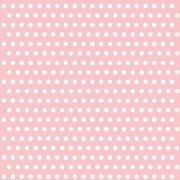 20 Serviettes � pois Blanc/Rose
