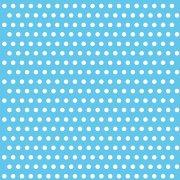 20 Serviettes � pois Blanc/Bleu