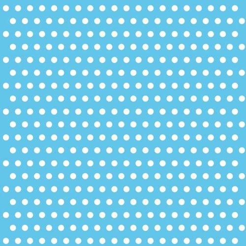 20 Serviettes à pois Blanc/Bleu