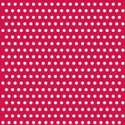 20 Serviettes à pois Blanc/Rouge