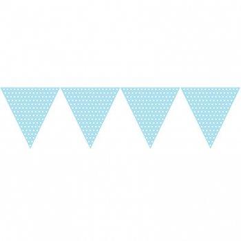 Guirlande fanions à pois Blanc/Bleu