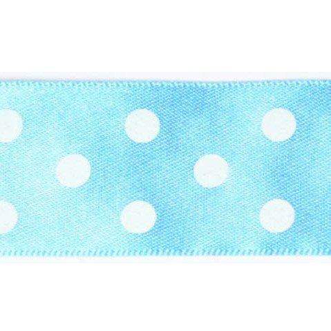 Ruban à pois Blanc/Bleu