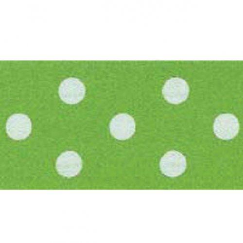 Ruban à pois Blanc/Vert