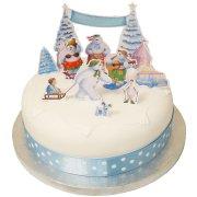 11 D�corations de G�teau Bonhommes de neige 3D
