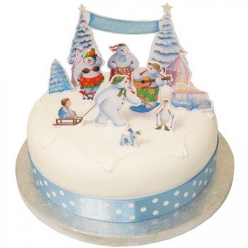 11 Décorations de Gâteau Bonhommes de neige 3D