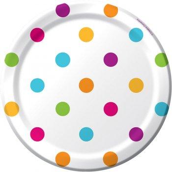 8 Petites Assiettes Happy Dots
