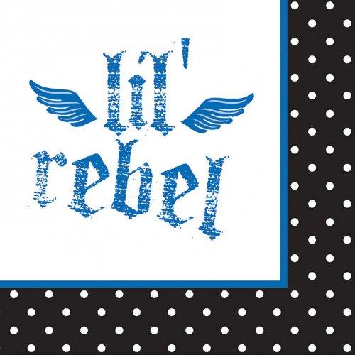 16 Serviettes 1 an Baby Pirate Bleu