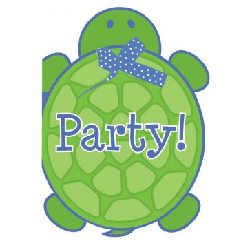 8 Invitations Tortue
