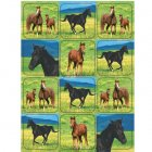 4 Planches Stickers Cheval Nature