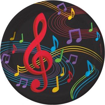 8 Assiettes Dancing Music