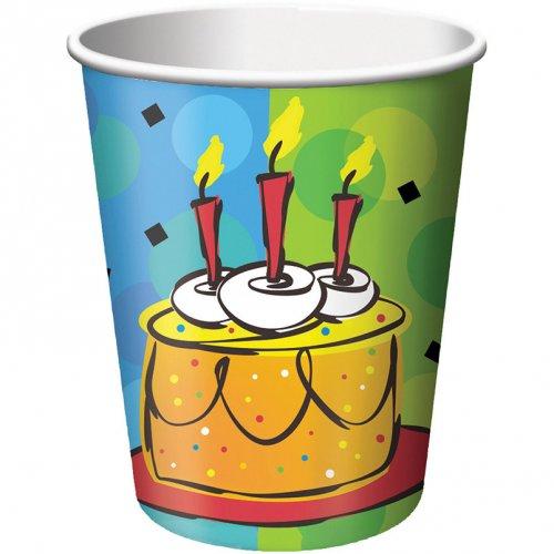 8 Gobelets Happy Célébration