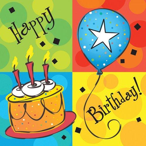 16 Serviettes Happy Célébration