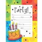 8 Invitations Happy Célébration