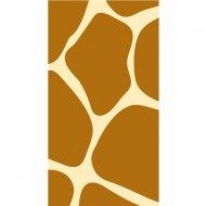 16 Serviettes rectangulaire Girafe