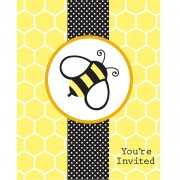 8 Invitations Abeille