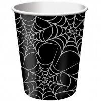 Contient : 1 x 8 Gobelets Toiles d'araignées