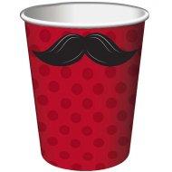 8 Gobelets Moustache Party