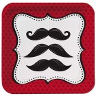 8 Petites Assiettes Moustache Party