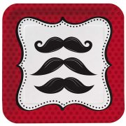 8 Petites Assiettes Moustache Party