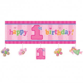 Affiche Happy Birthday 1 an Fée