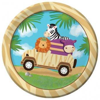 8 Petites assiettes Safari Aventure