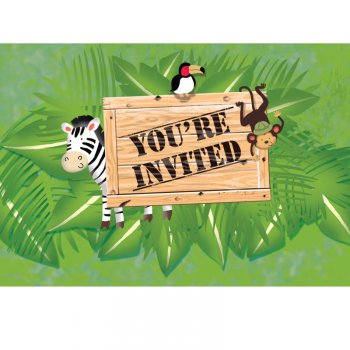8 Invitations Safari Aventure